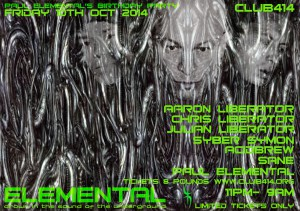 ELEMENTAL – Liberation Party @ Club 414   London   United Kingdom