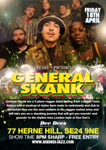 General Skank live @ Dee Dee's Jazz and the Funk | London | United Kingdom