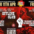Tonight! Brixton Offline Club DJ night in solidarity with striking Ritzy workers