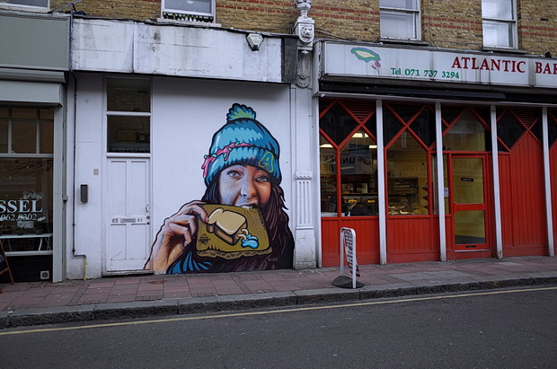 Striking artwork appears on Atlantic Road, Brixton