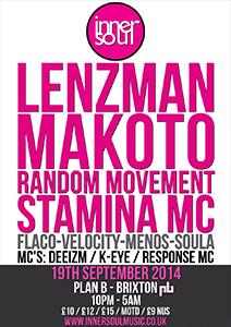 InnerSoul with Lenzman, Makoto, Random Movement  @ Plan B | United Kingdom