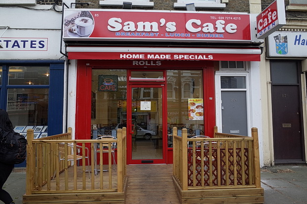 Sam's Cafe, Acre Lane, Brixton - enormous portions fantastic value
