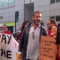 Football legend Eric Cantona lends his support to striking Ritzy workers
