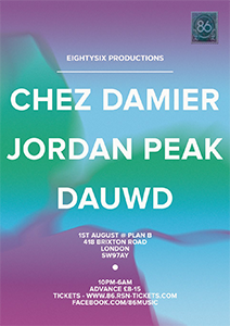86 Productions with Chez Damier, Jordan Peak, Dauwd @ Plan B | United Kingdom