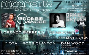 Magnetix's 7th Birthday Bash @ Club 414   London   United Kingdom