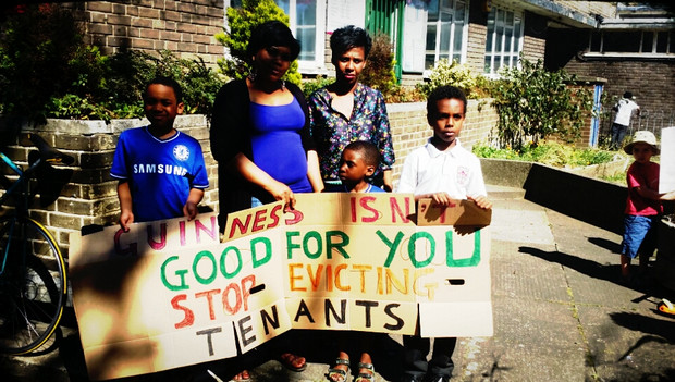 Guinness Trust anti-evictions protest - photos
