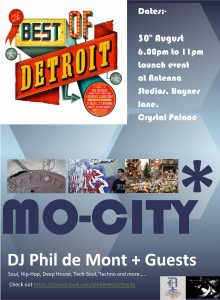 MO-CITY: Music from Motown to Motor City  @ An Tenna Caff, Antenna Studios, Crystal Palace | London | United Kingdom