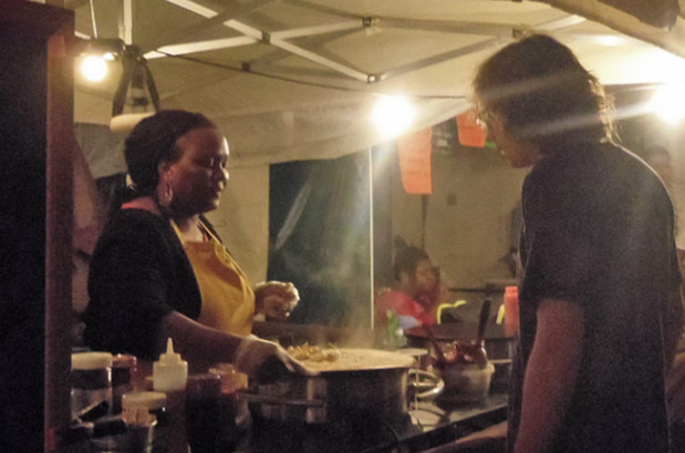 Brixton Night Market in Windrush Square - food review