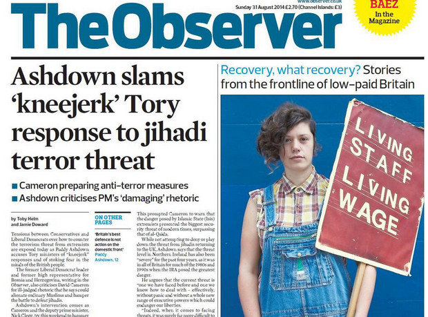 After the observer featured the dispute on its front page yesterday