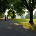 Early autumn scenes in Brockwell Park, south London