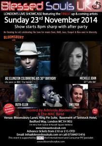 Blessed Souls UK presents Jaz Ellington 23rd November 2014 @ Bloomsbury Bowling Lanes   London   United Kingdom