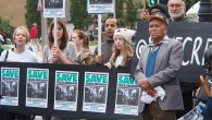 There were noisy scenes outside Lambeth Town Hall this morning, as campaigners from theCressingham Gardens Estate in South London protested against the possible demolition of their homes.