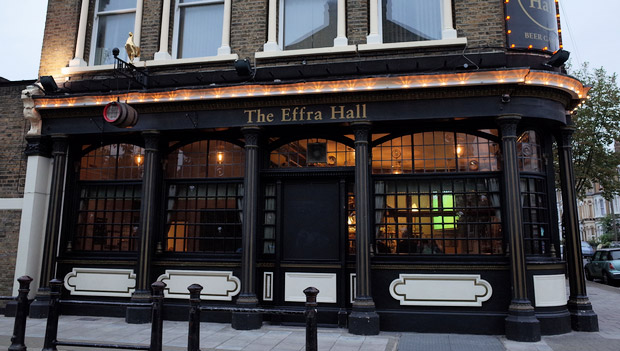 THE EFFRA HALL TAVERN 38a Kellett Rd SW2
