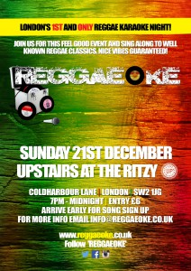 REGGAEOKE @ Upstairs at the Ritzy | London | United Kingdom