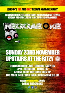 REGGAEOKE @ Upstairs at the Ritzy | London | United Kingdom