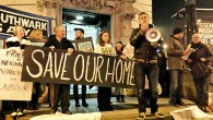 Residents and supporters of the Save Cressingham Gardens campaign were out in force lastnight to protest against the proposed demolition of their estate.