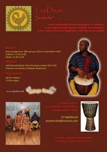 African Drumming Course January 2015 - Adults & Children - @ Amaras Caribbean Restaurant  | London | United Kingdom