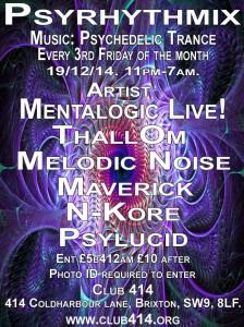 Psyrhythmix Psychedelic Trance Party @ Club 414