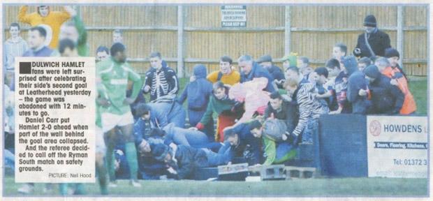 New Year's Day football: Dulwich Hamlet take on Leatherhead in WallGate clash