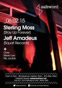 SAFEWORD presents...Sterling Moss + Jeff Amadeus @ Club 414 | London | United Kingdom