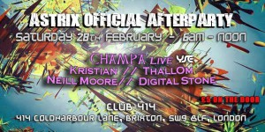 Astrix official after party @ Club 414 | London | United Kingdom