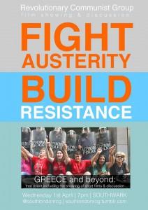 Fight Austerity! Build Resistance! Greece and Beyond @ Walworth Methodist Church | London | United Kingdom