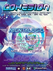 Cohesion Psychedelic Trance Adventure @ Club 414   London   United Kingdom