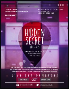 Hidden Secret live at Dee Dee's @ Dee Dee's Jazz and the Funk | London | United Kingdom