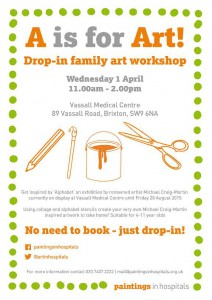 A is for Art! Drop-in family art workshop @ Vassall Medical Centre | London | United Kingdom