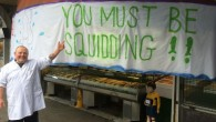 A fishmongers facing eviction underNetwork Rail's controversial proposals to evict businesses from arches alongAtlantic Road and Brixton Station Road has added a banner in protest.