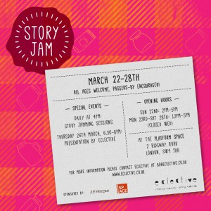 Story Jam, a free arts project @ The Platform  | London | United Kingdom