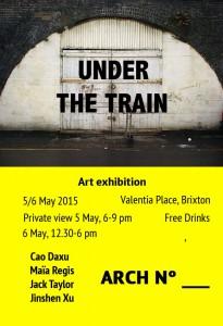 UNDER THE TRAIN @ Valentia place | London | United Kingdom