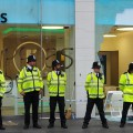 Reclaim Brixton: Foxtons estate agents in Brixton gets windows smashed