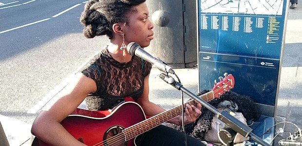 Now a familiar sight outside Brixton tube station, the very talented singer/songwriter Ese Okorodudu has been impressing passers by for over six months.