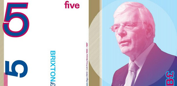 The Brixton Pound has announced the new face of their five pound note and it is none other than Mr Underpants Over His Trousers himself, John Major. A local lad, […]