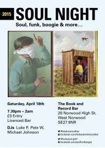 Soul Night @ The Book and Record Bar | London | United Kingdom