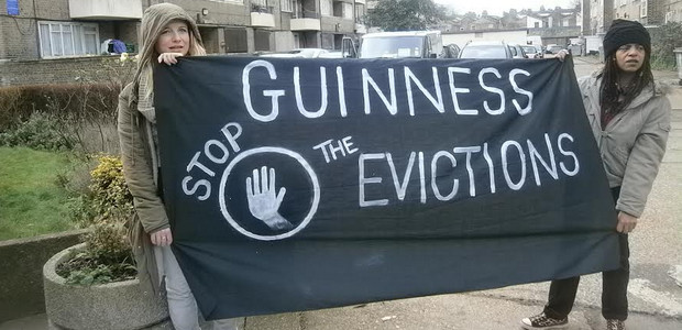Why are evictions happening at the Guinness estate in Loughborough Park, Brixton?