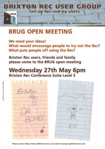 Brixton Rec User Group Open Meeting @ Brixton Recreation Centre | London | United Kingdom