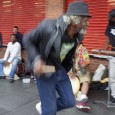 There were enjoyablyanimated scenes to be seen by Brixton tube station this afternoon as a gang of drummers and percussionists entertained passers by. Related Tags: