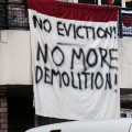 Brixton Guinness Trust campaigners on the blockade: photos from 26th May action