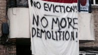 Assured Shorthold Tenantsfacing eviction from their Guinness Trust homes continued their series of actions yesterday morning with another blockade of the estate in Loughborough Park, Brixton. Related Tags:
