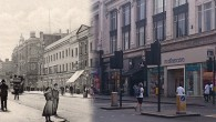 Over a 100 years separates these two views of Brixton Road, with the cameras recording the scene close to the junction with Gresham Road and Stockwell Road, looking south.