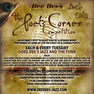 The Poets Corner Competition @ Dee Dee's Jazz and the Funk | London | United Kingdom