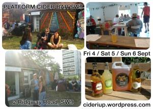 Platform Cider Bar - weekend cider festival! @ The Platform, 2 Ridgway Road, Loughborough Junction | London | United Kingdom