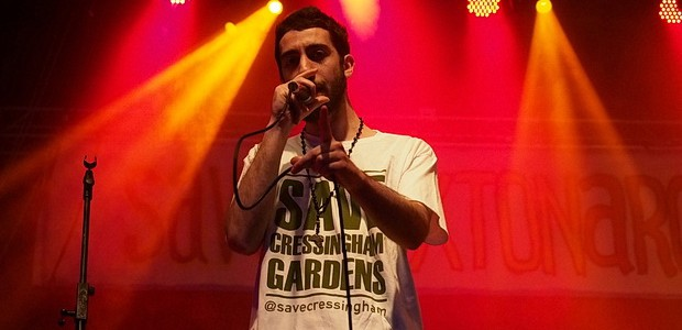 Local activist and rapper Potent Whisper has put together a surprise second stage for Brixton Splash, with the stage located at the Arts & Family Village by St Matthews Church.