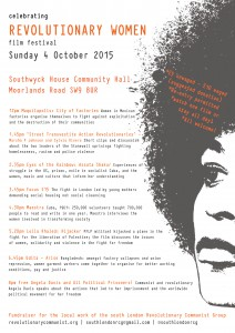 Celebrating Revolutionary Women Film Festival @ Southwyck House Community Hall | London | United Kingdom