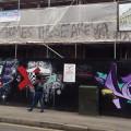 Class war graffiti appears on luxury Josephine Avenue development, Brixton