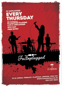 Fu Unplugged with The Fu Manchu Players @ Fu Manchu | London | United Kingdom