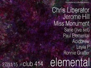 ELEMENTAL @ Club 414 | London | United Kingdom