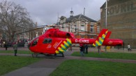 An Air Ambulance has landed in Brixton's Windrush Square today, with reports that a serious accident has taken place in nearby Coldharbour Lane.
